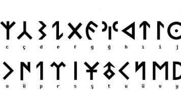 Goktuk Alphabet - Nation Of Turks