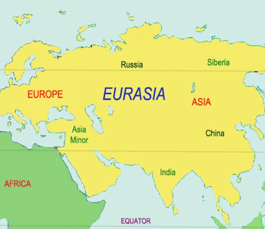 Map of Eurasia