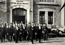 Ataturk in TBMM (Parliment)