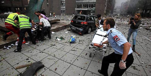 Oslo bombing photo