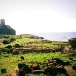 Figure 1. Ruins of ancient Capital City of Nora, Sardinia, CAPO di PULA. It was an ancient harbor city.