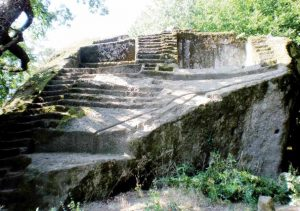 Figure 2. Etruscan Pyramid-Altar at Bomarzo, Italia, from Tina Frigerio's Facebook photo album