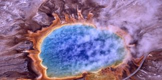 Thermophiles, a type of extremophile, produce some of the bright colors of Grand Prismatic Spring, Yellowstone National Park (http://en.wikipedia.org/wiki/Extremophile)